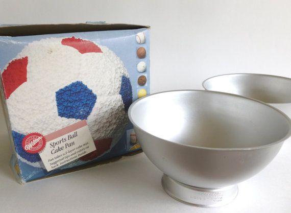 Wilton Sports Ball 3D Cake Pan 1990 Soccer Baseball Golf Bowling