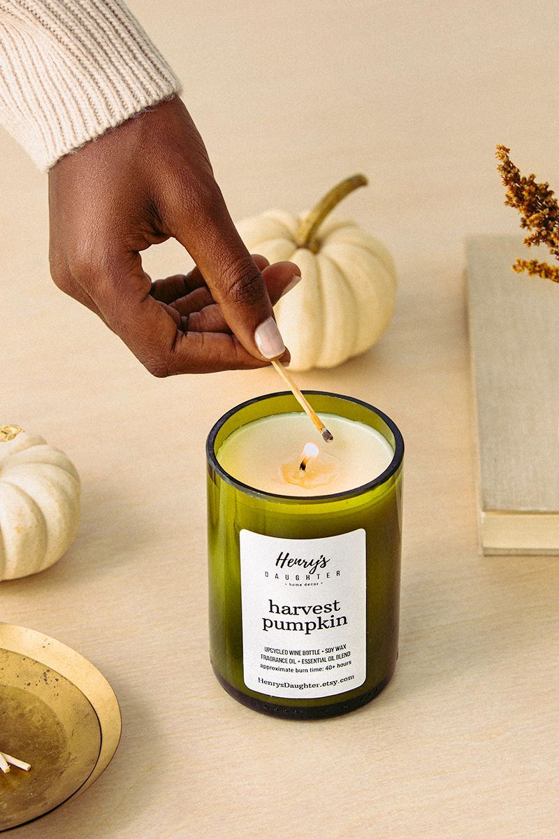 These candles combine upcycled wine bottles with hand-poured 100% soy wax and fragrance oil blends to create the most heavenly candles for your home.