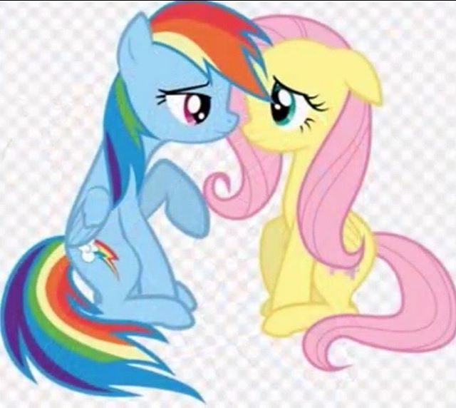 Fluttershy & Rainbowdash x #rainbow #pink #blue #yellow # ...