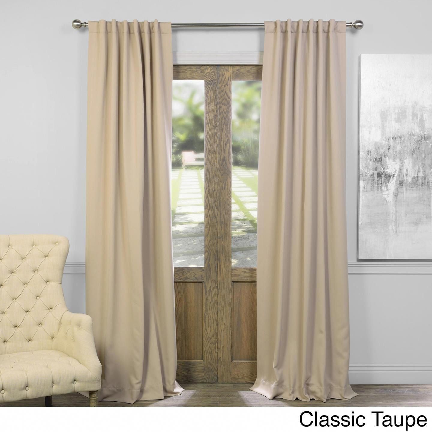 Exclusive Fabrics Thermal Insulated Solid Blackout 84 Inch Curtain