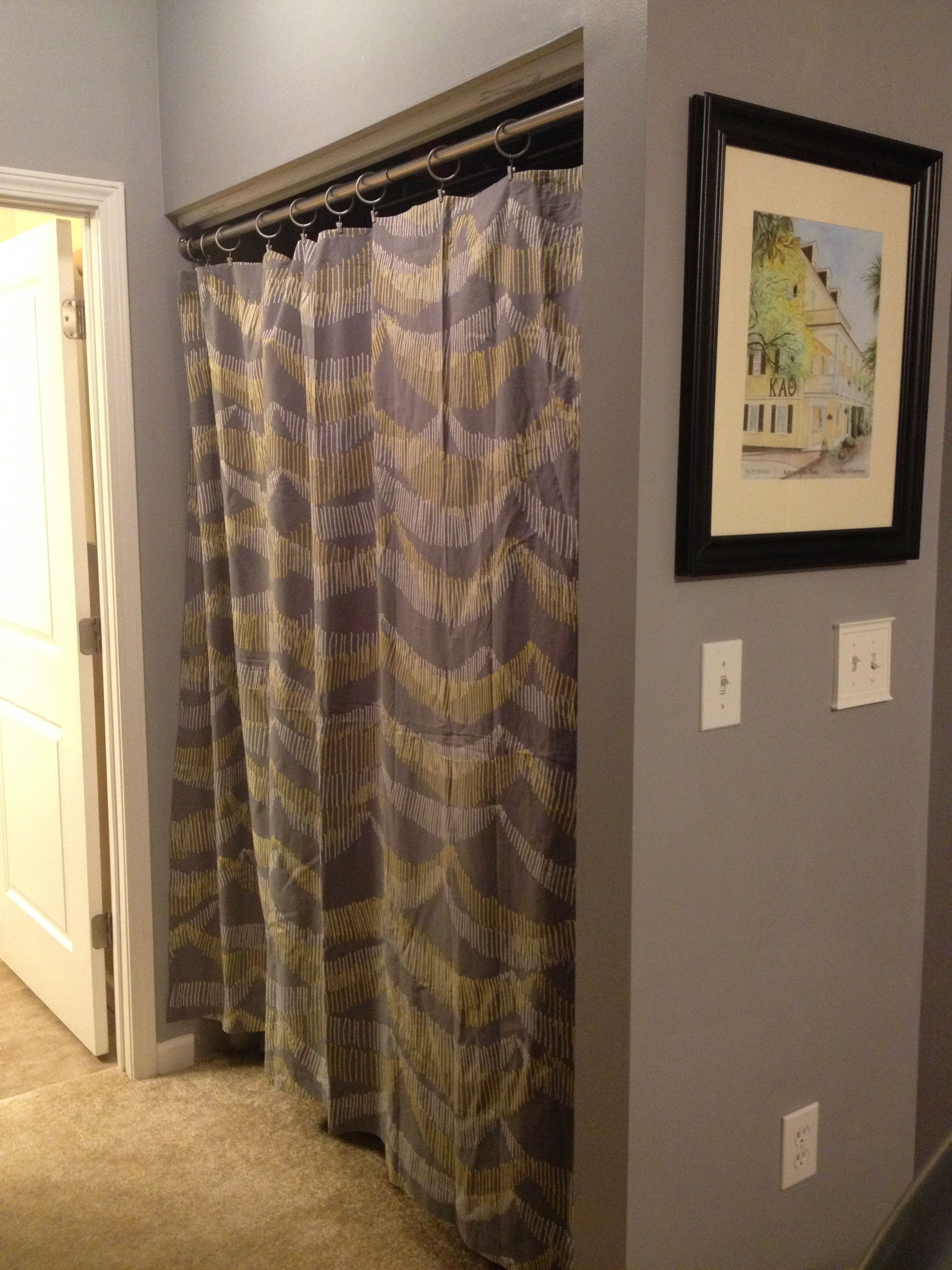 Create A New Look For Your Room With These Closet Door Ideas Curtains For Closet Doors Diy Closet Doors Closet Doors