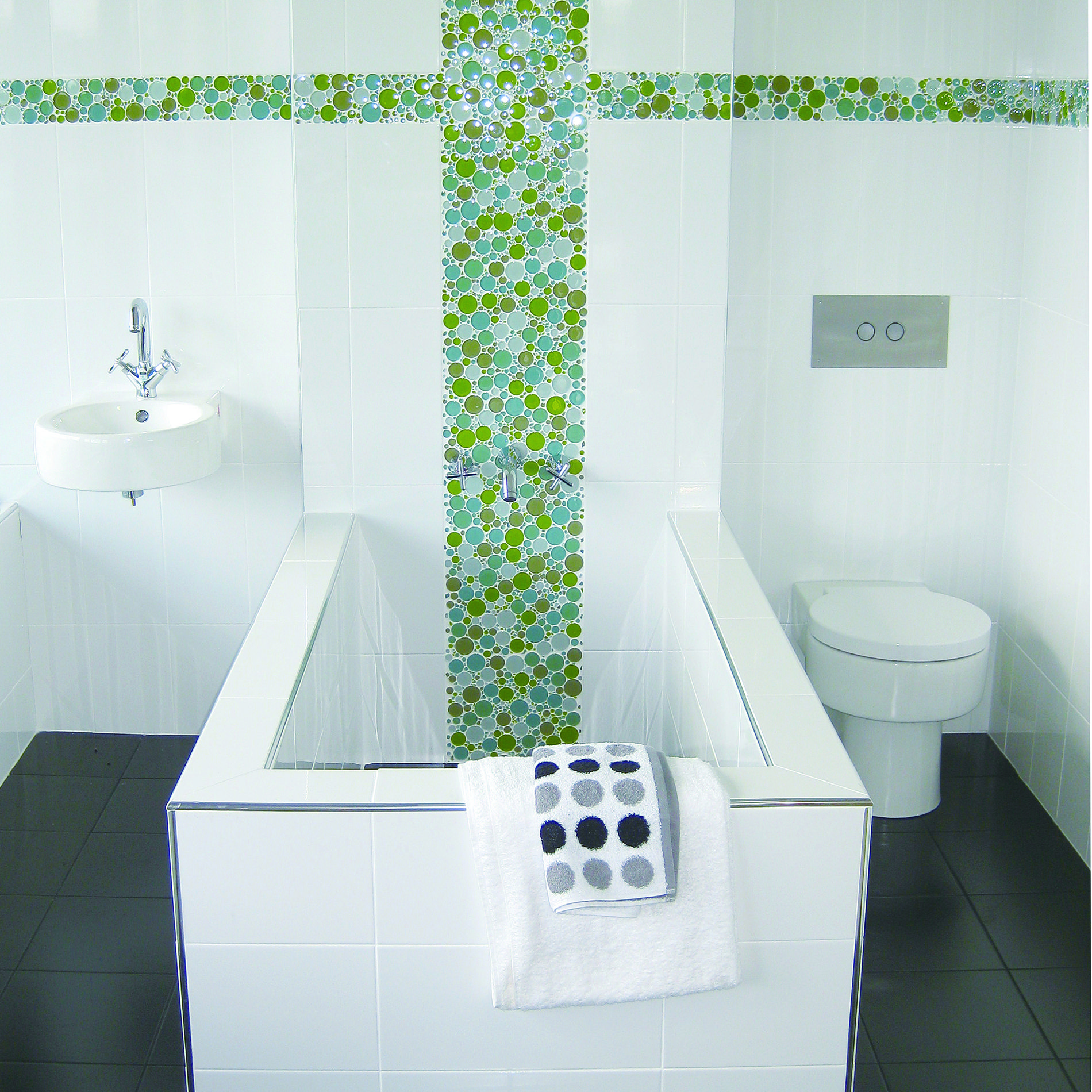 Steinfliesen Mosaik Bathroom Inspiration Designed With Everstone Bubble Mosaics