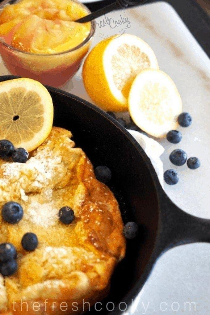 A Dutch Baby or German pancake is an egg-y, crepe like ...