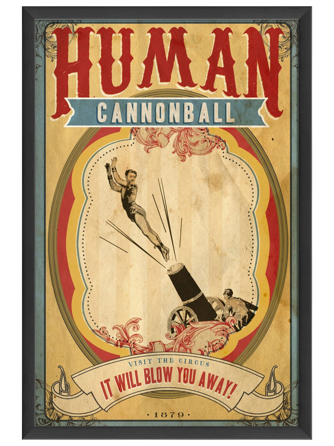 Flying Circus Posters | Zazzle |Human Cannonball Circus Poster