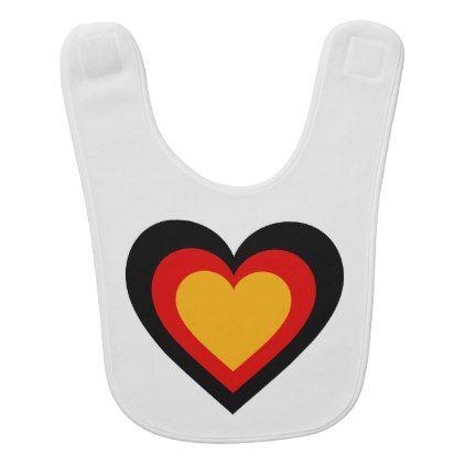 Germanygerman flag hearts baby bib negle Images