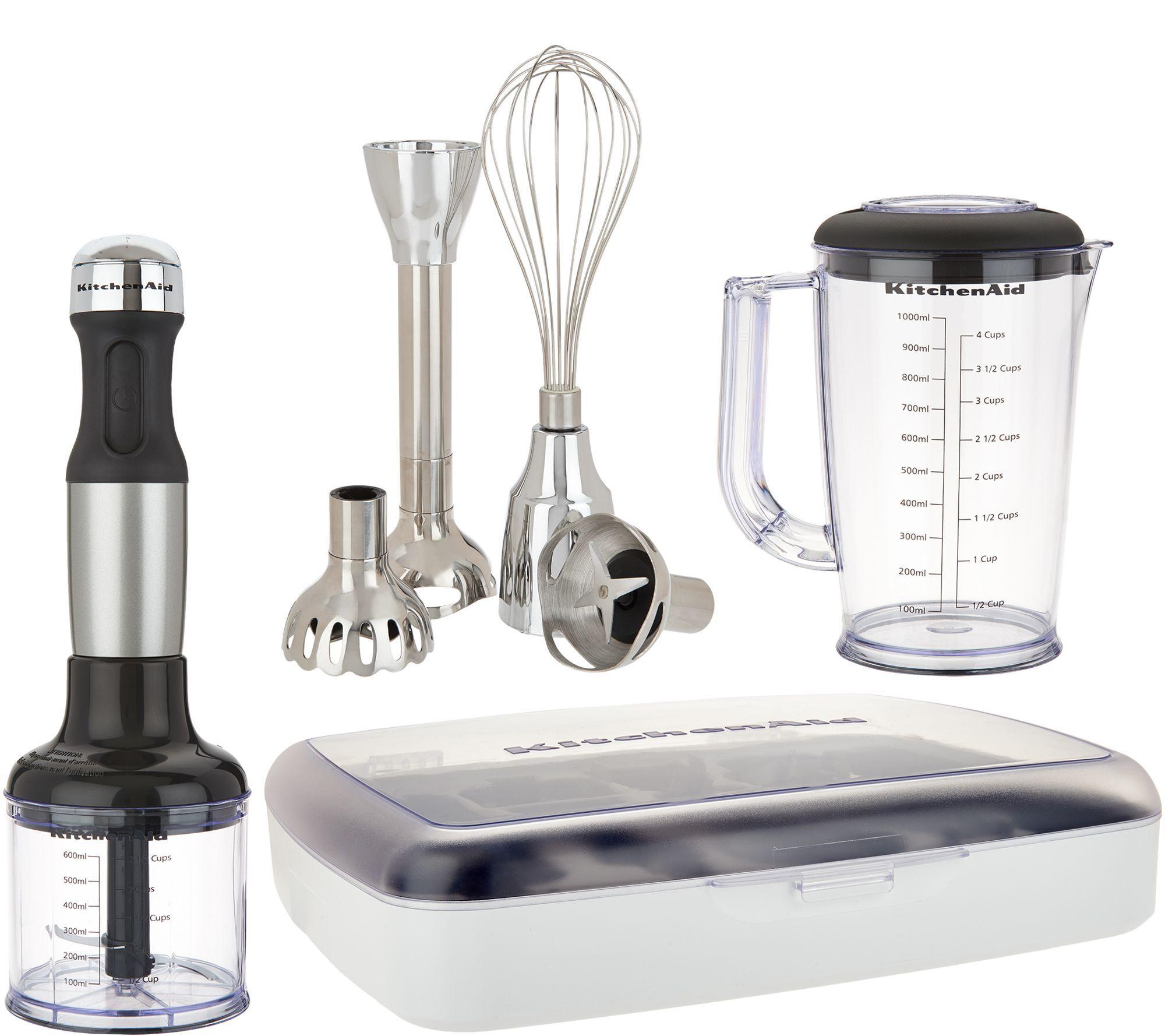Kitchenaid 5 speed immersion blender w case and