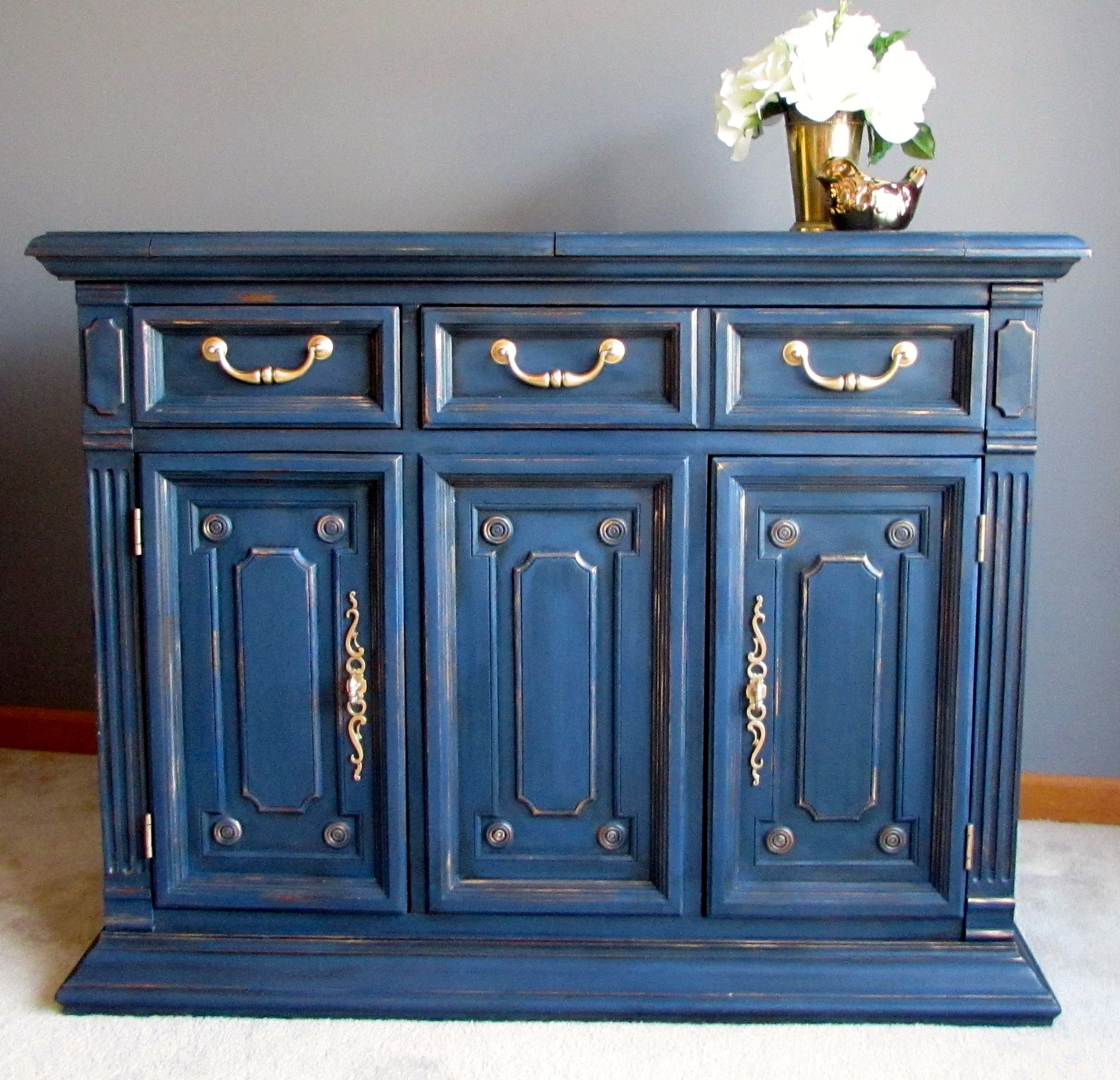 Vintage Bernhardt Bar/Side Board painted in Annie Sloan custom mix ...