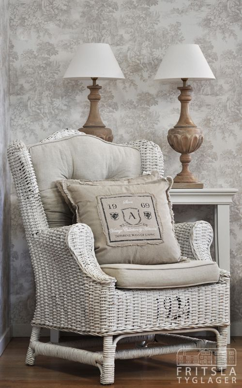 Gorgeous Wicker Chair With Just The Right Cushions And Pillows