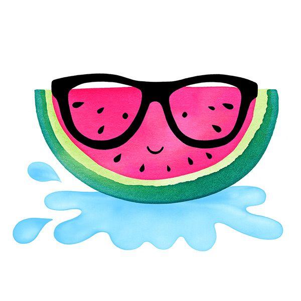 Fruity Friend Watermelon © magrikie Fruit Illustrations