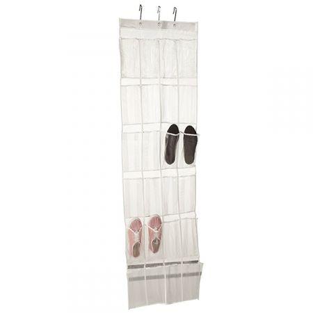Howards Storage World   24 Pocket Over The Door Shoe Organiser