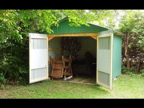 Making a set of large \ barn doors\  for the front of the shed. & Making a set of large \