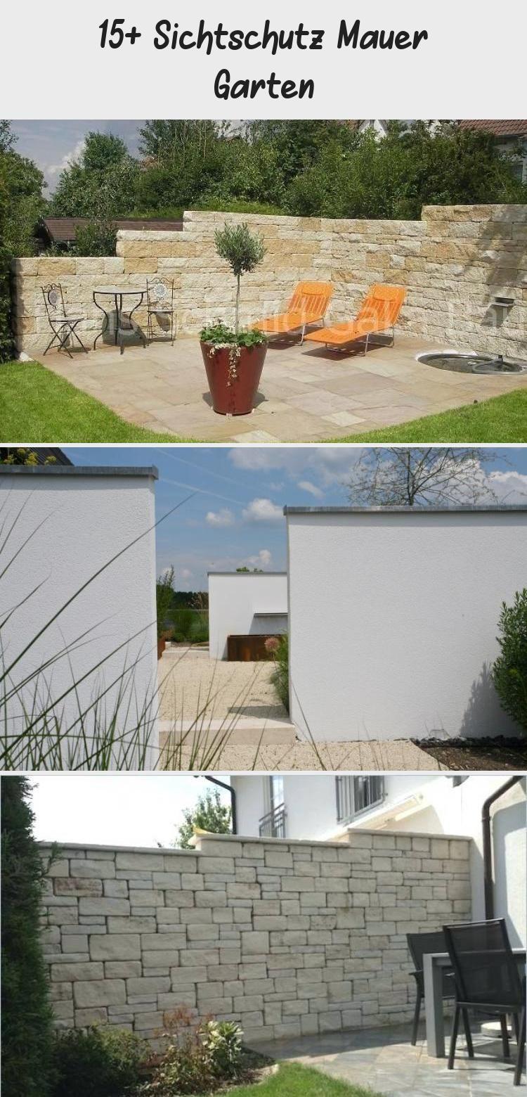 15 Sichtschutz Mauer In 2020 Garden Wall Patio Wall Garden