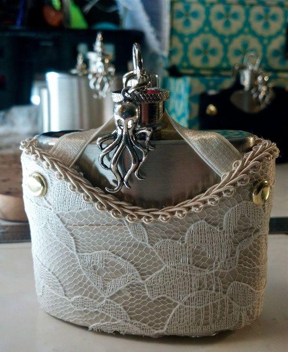 Wedding Garter Songs: Steampunk Wedding Garter Flask Corset Holster. For Wedding