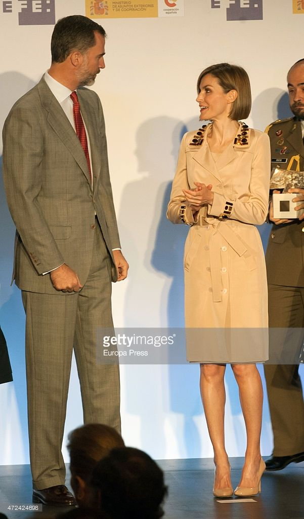 King Felipe VI of Spain and Queen Letizia of Spain attend 'Rey de Espana' and 'Don Quijote' Journalism Awards 2015 on May 7, 2015 in Madrid, Spain.