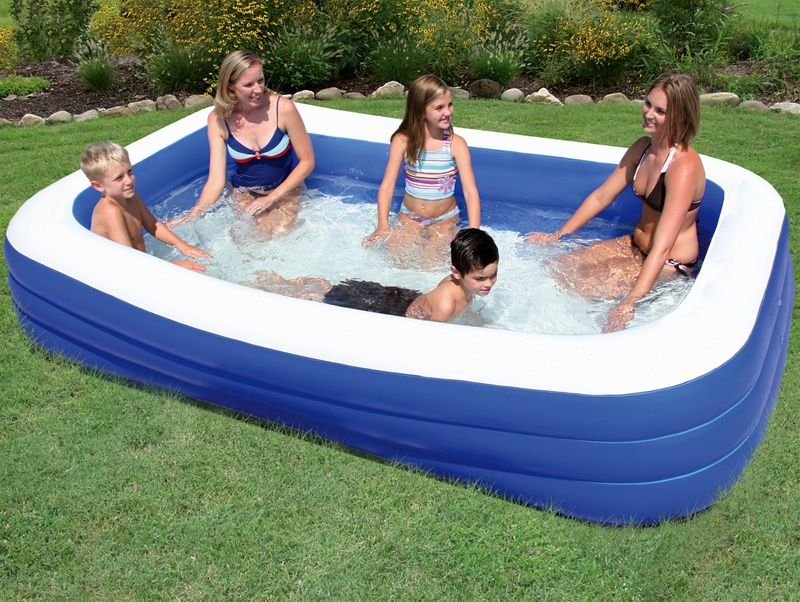backyard ocean inflatable pools are great for your kids this ocean blue rectangle pool kiddie pool and all of our plastic kiddie pools and inflatable pools
