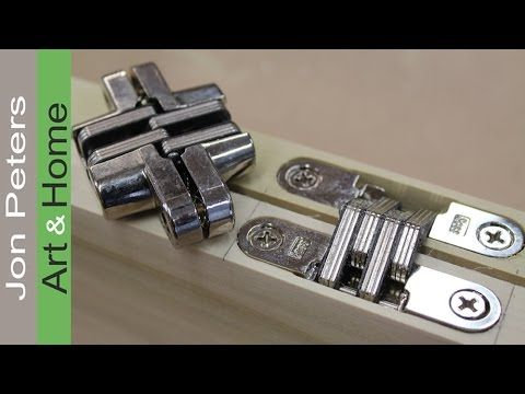 learn how to install hidden hinges for the automatic tv lift cabinet project iu0027m