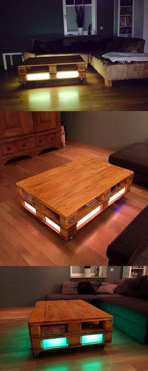 Der Couchtisch madera verwandelt alte Euro-Paletten in einen