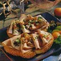Orange-Grilled Pork Sandwiches with Apricot Sauce.