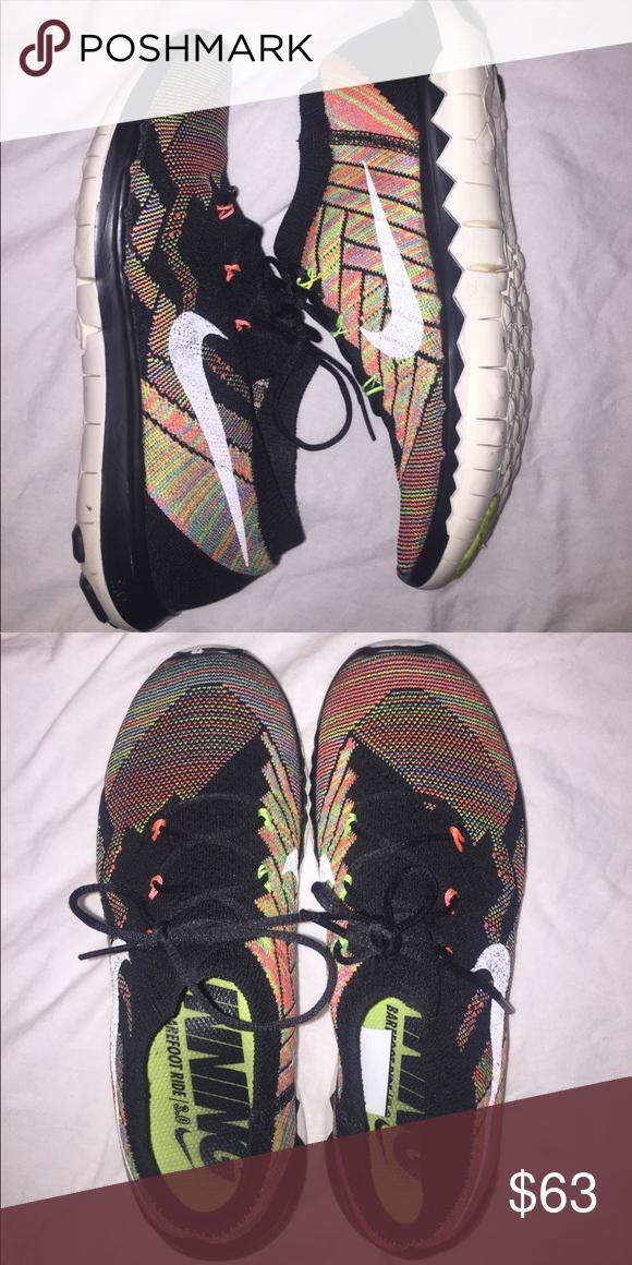 new concept e4ea6 21c36 Multicolor NIKE flyknit free 3.0 Rare multicolor NIKE free 3.0 women s size  8 barely used Nike Shoes Athletic Shoes