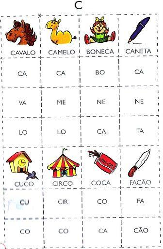 Bingo Silabico Alfabetizacao 282 29 Jpg 336 512 Jogo Das