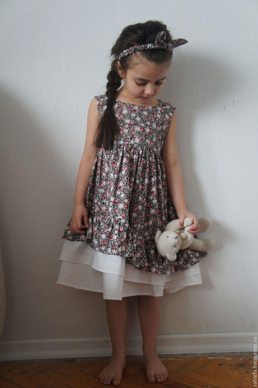 bd43a013213 Купить Платье для девочки в стиле бохо - комбинированный