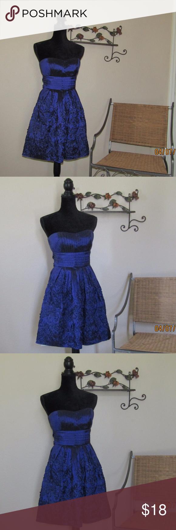 B smart purpleblue formal dress strapless blue formal