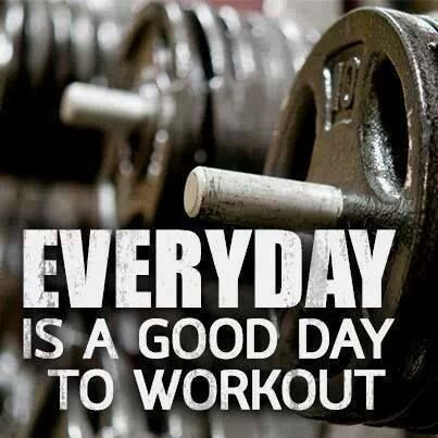 Never skip a workout day