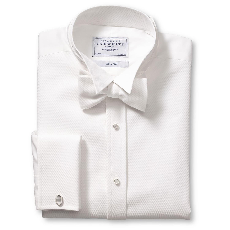 5e10661fb83f9a Charles Tyrwhitt Marcella bib front wing collar evening slim fit shirt
