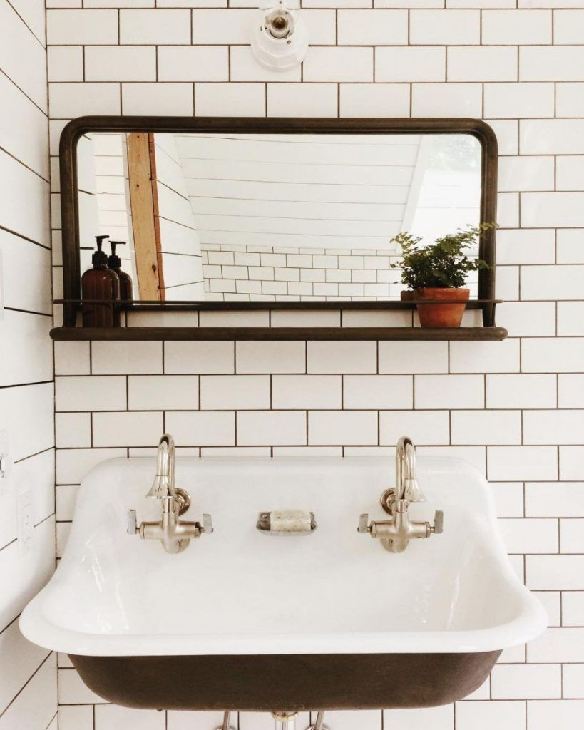 Try a trough sink with two faucets. | Bathroom Sinks | Pinterest ...