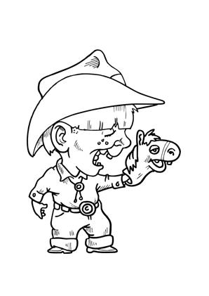 ausmalbilder cowboy mit handpuppe zum kostenlosen ausdrucken und ausmalen. ausmalbilder |