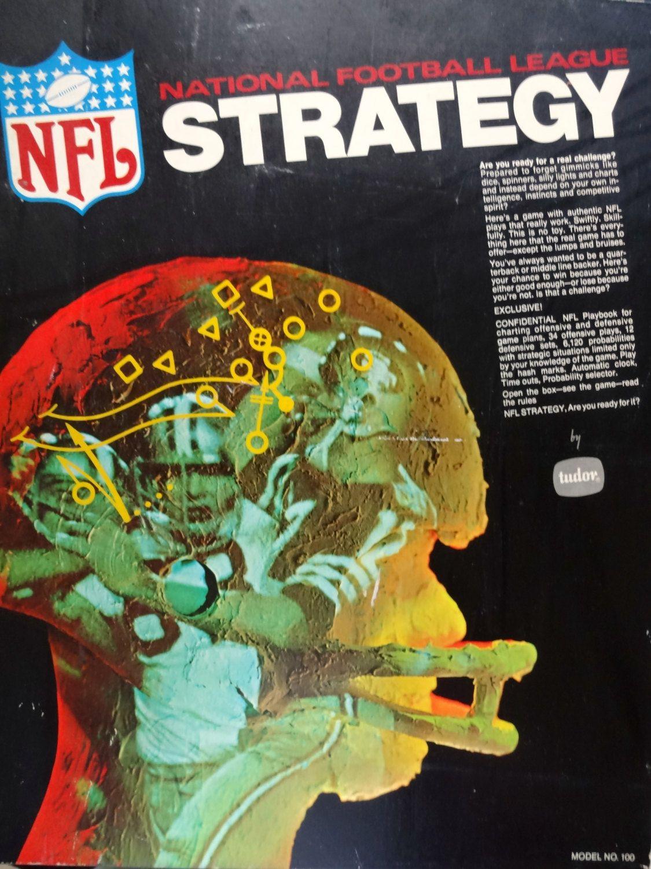 Vintage Tudor NFL Strategy Board Game 1970 National