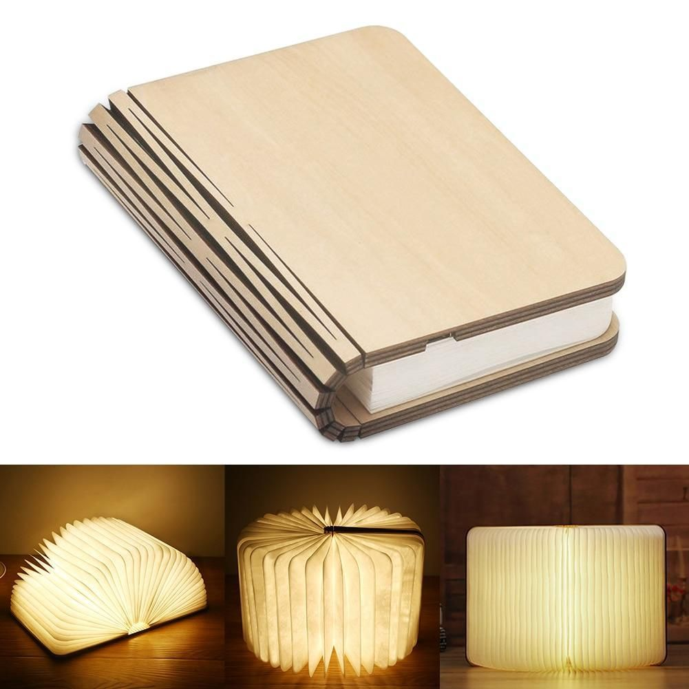 Booklovers Rechargeable Book Lamp In 2020 Book Lamp Wooden Books Wood Book