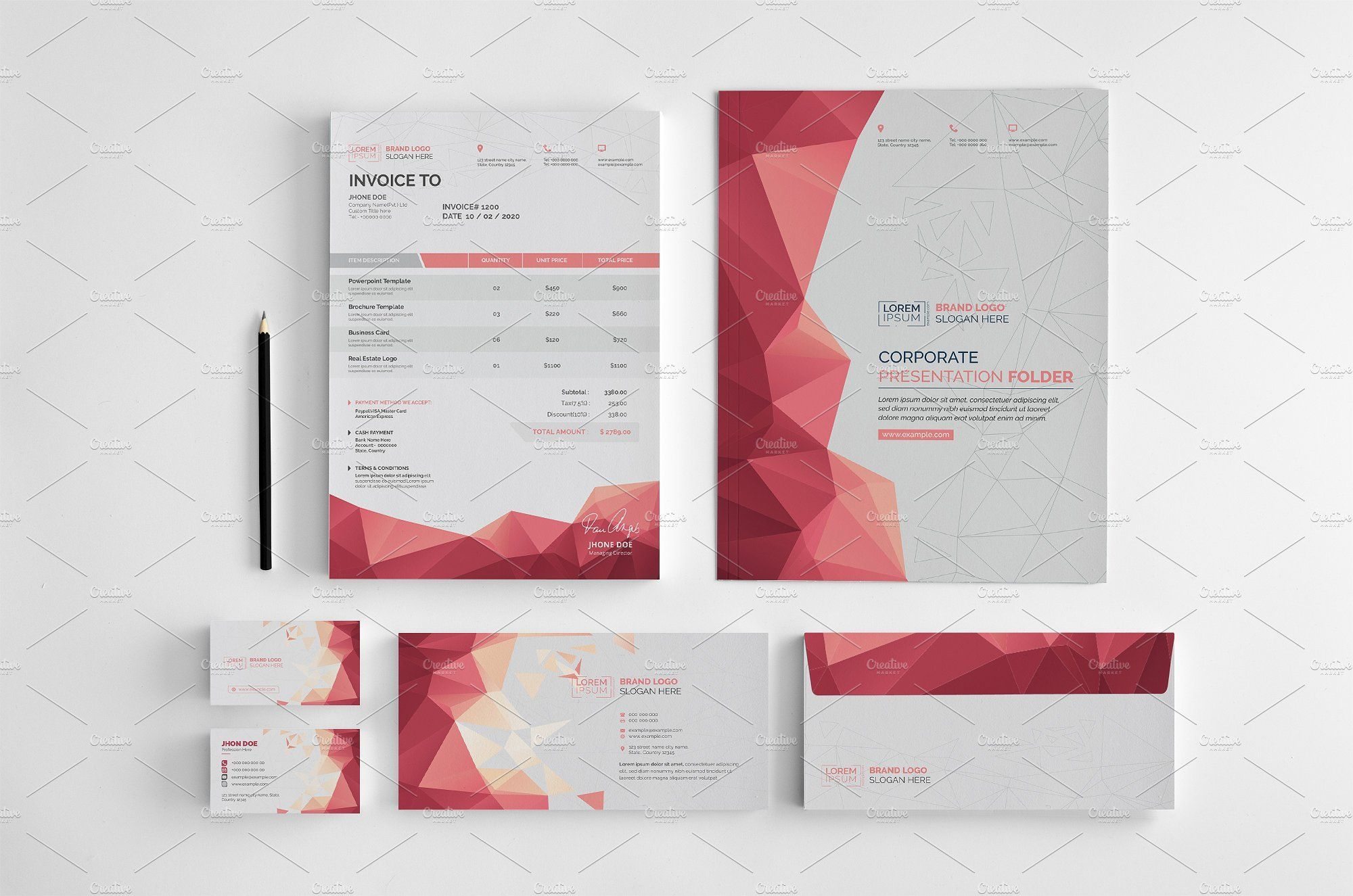 Branding Stationery Set A Collection Of Ideny