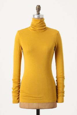 Splendid Yellow Turtleneck