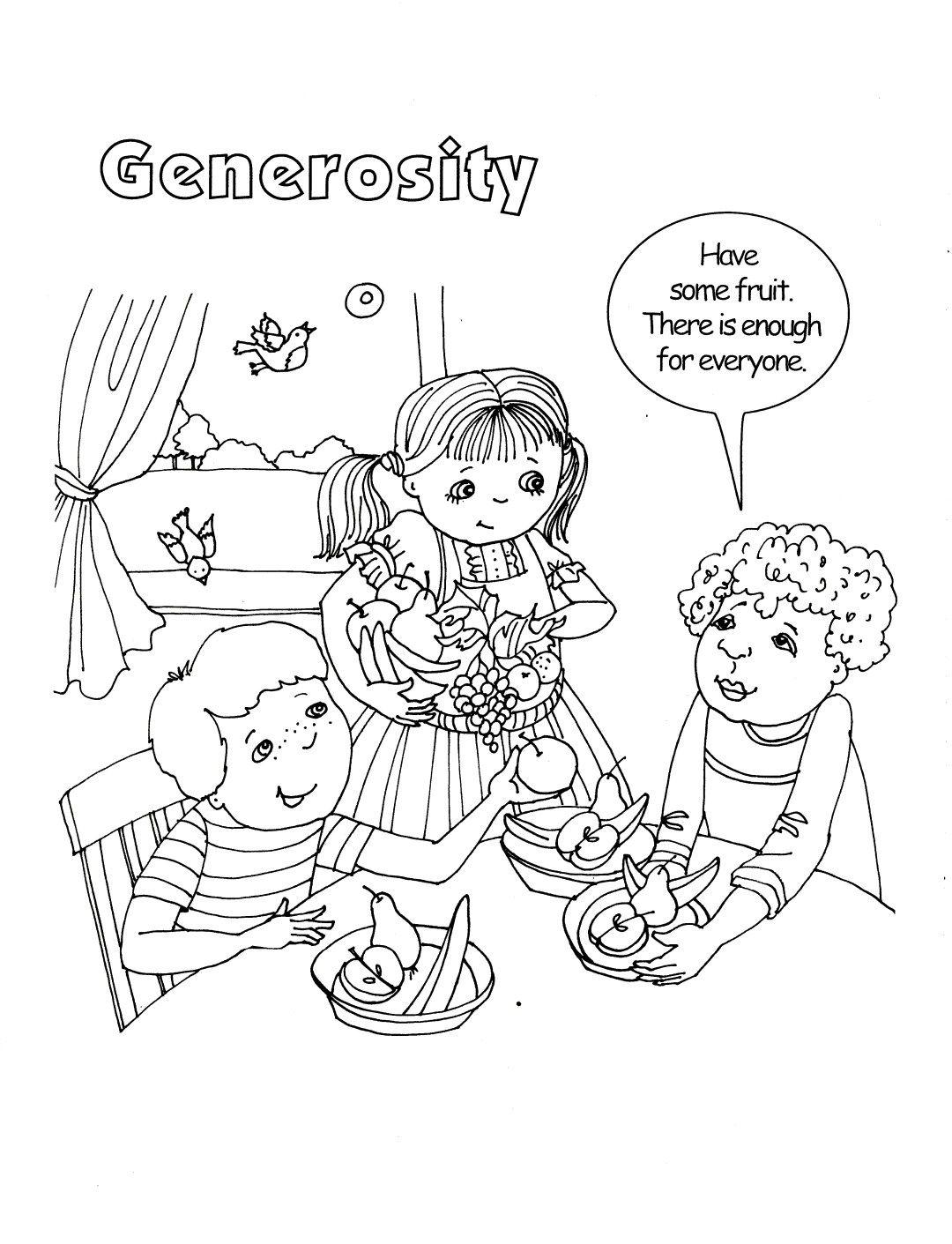 Generosity Coloring Sheet | Baha'i Holy Days | Coloring ...