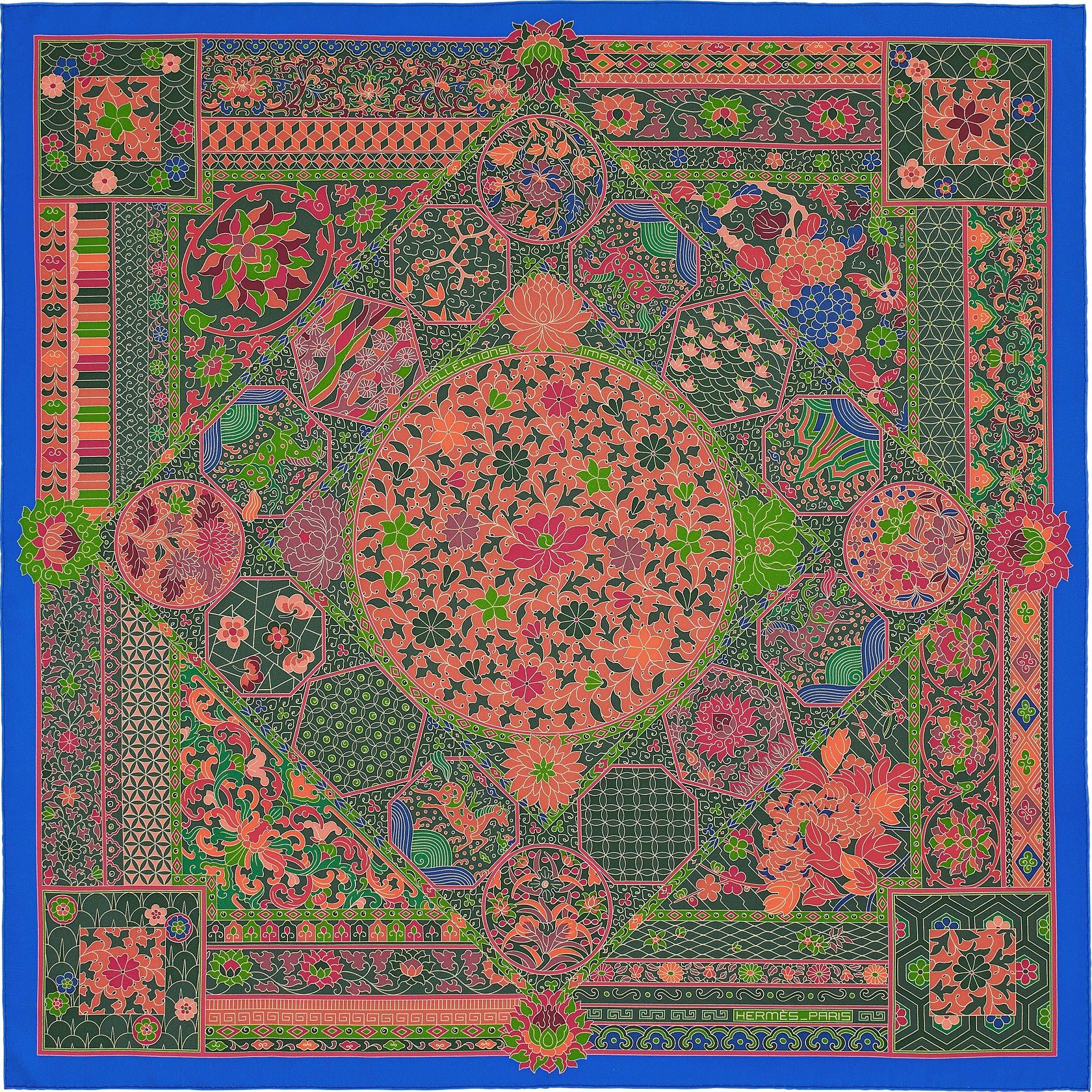 """435e869b533c 36"""" x 36"""" scarf Hermès   Collections Imperiales   Hermes scarves ..."""