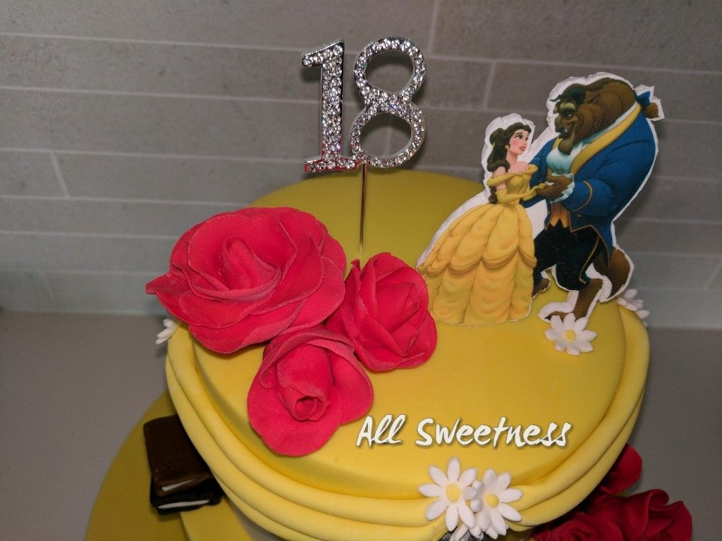 Beauty and the Beast 18th birthday cake made by All Sweetness