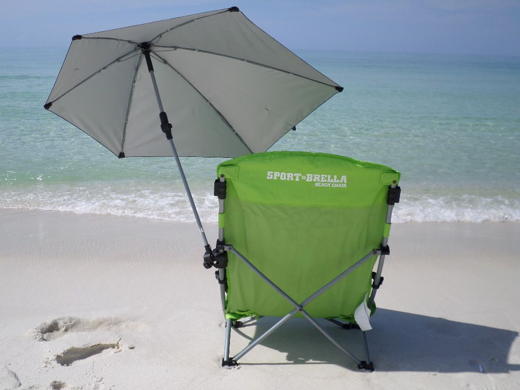 Clamp On Chair Umbrella This Beach Chair With A Clamp On Umbrella Comes With Us On Every