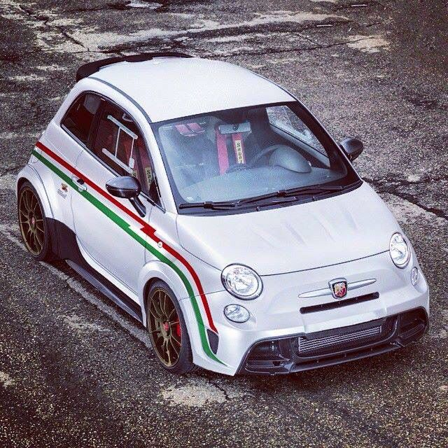 Modified 500 Abarth Like The Larger Front Mounted Intercooler