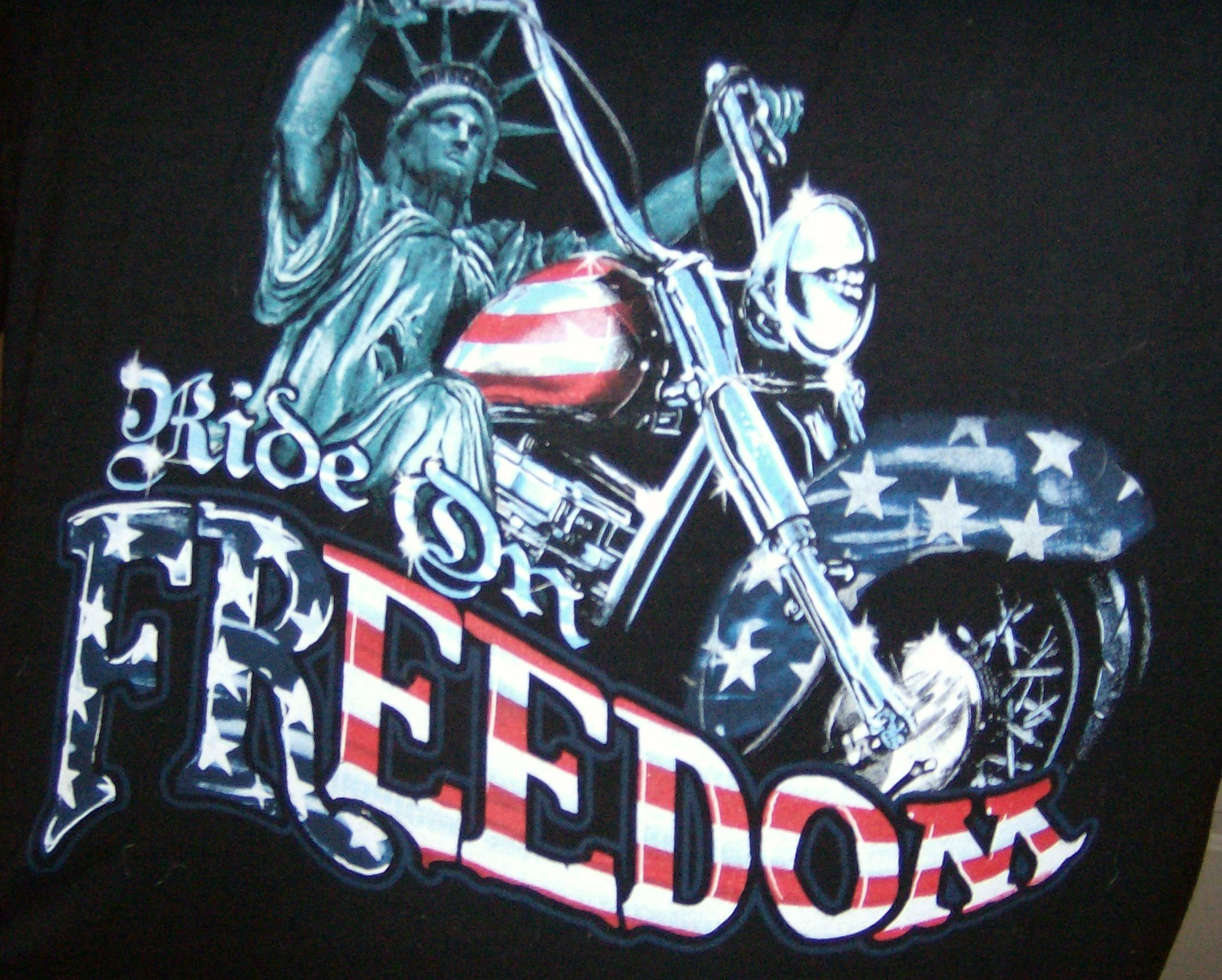 Motorcycles And Freedom Happy 4th Of July Harley Davidson Decals