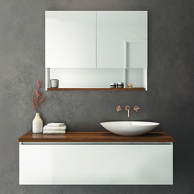Rifco Platinum Wall Hung Vanity 1200mm with Timber top in Blackwood - muebles para bao modernos
