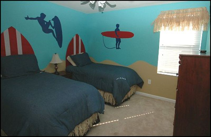 Hawaiian Surfing Style Bedroom Decorating Ideas For Kids