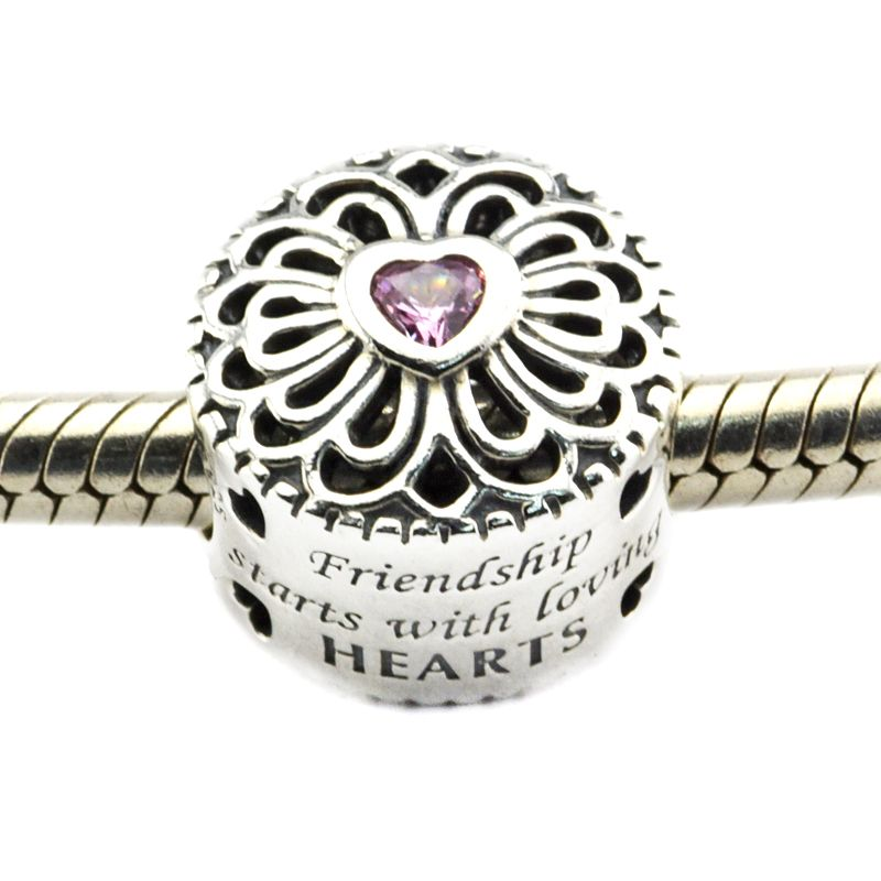 Jewelry & Accessories Kiss Charm 925 Sterling Silver Beads Glamour Mixed Enamel With Clear Cubic Zircon Beads Fit Charms Bracelet Bangle Fine Jewelry For Fast Shipping