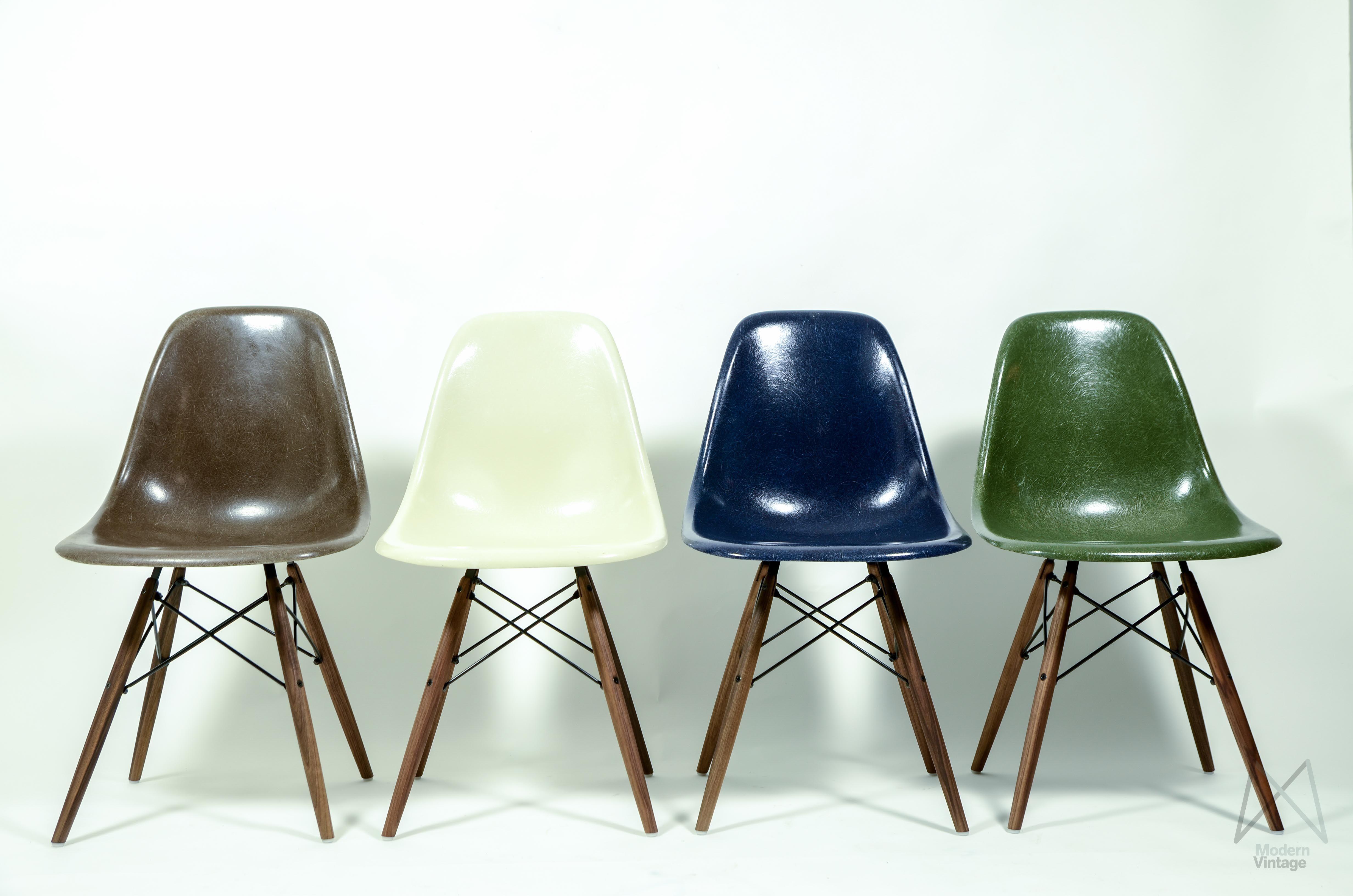 Vintage eames chair - Eames Original Herman Miller Fiberglass Dsw Chair Different Colors