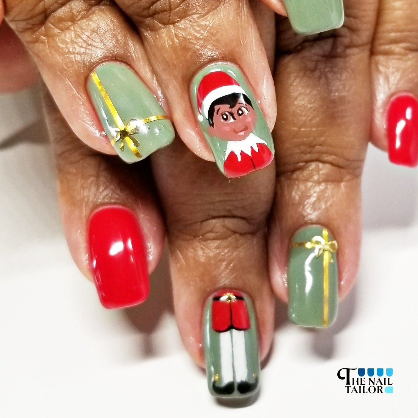 Christmas Nails Elf: Elf On The Shelf, Elf, Christmas Nails