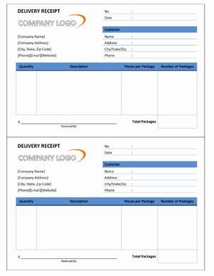10 delivery receipt templates free printable word excel pdf