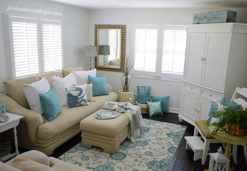 coastal decor living room. Coastal Cottage Home Decor  Living Room Summer cottage rooms