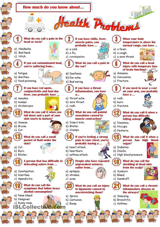 health problems quiz health class pinte