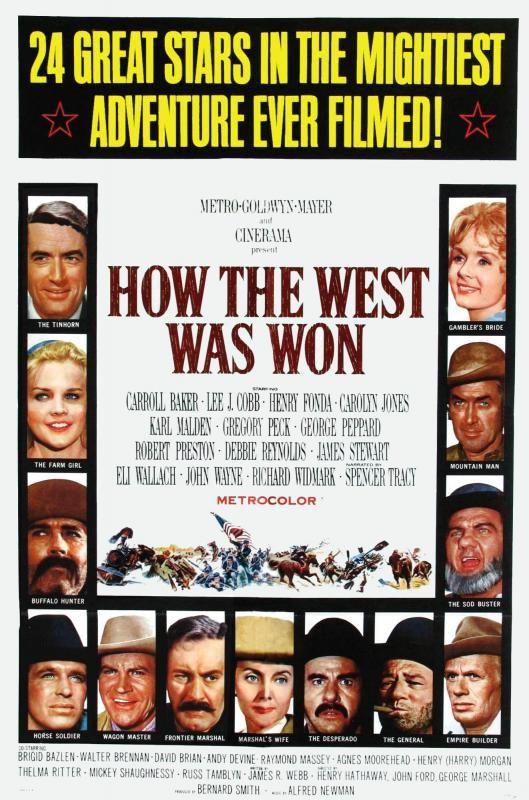 La Conquête De L Ouest Film : conquête, ouest, Ford/H., Hathaway/G., Marshall, Affiche, Film,, Cinéma,