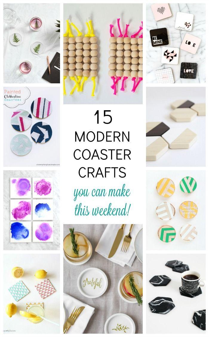 crafty ideas modern coasters. Friday Faves  15 Modern Coaster Crafts coasters Coasters